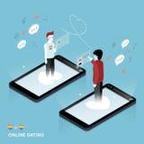 Online het Dateren Concept Stock Foto's