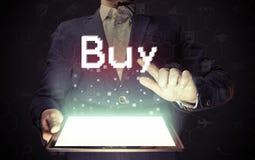 Online het kopen concept stock afbeelding