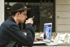 Online het leren website Royalty-vrije Stock Afbeelding