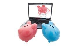 Online het winkelen Stock Foto