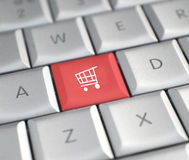 Online het winkelen Royalty-vrije Stock Fotografie