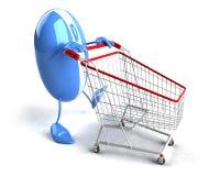 Online het winkelen Stock Fotografie