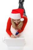 Online het winkelen aankoop of betaling royalty-vrije stock foto