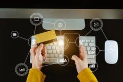 Online het Winkelen betalingenconcept royalty-vrije illustratie