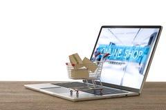 Online het winkelen concept Stock Foto