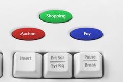 Online het Winkelen Concept Stock Foto's