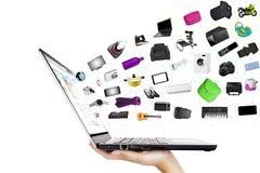 Online het winkelen concept stock afbeelding