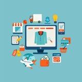 Online het winkelen concept Royalty-vrije Stock Foto