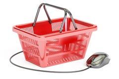 Online het winkelen concept, het 3D teruggeven Stock Foto's