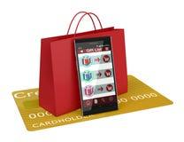 Online het winkelen en giften Stock Fotografie