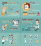 Online het winkelen infographicselementen Stock Foto's