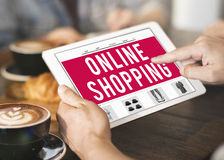 Online het Winkelen Kleinhandels het Kopen Concept royalty-vrije stock fotografie