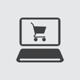 Online het winkelen pictogramillustratie royalty-vrije illustratie