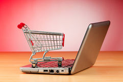 Online het winkelen van Internet concept royalty-vrije stock foto