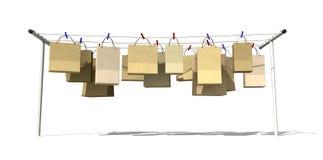 Online het Winkelen Vooraanzicht vector illustratie