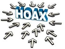 Online hoax Royalty-vrije Stock Afbeelding