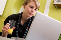 Online at Home Royalty Free Stock Photo