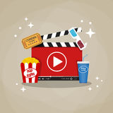 Online home cinema concept. Royalty Free Stock Photography