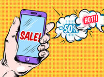 Online Hot Sale Comic Style Design Royalty Free Stock Photo