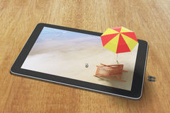 Online hotel booking concept with digital tablet Royalty Free Stock Photo