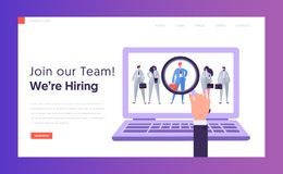 Online HR Best Candidate Concept Landing Page royalty free illustration