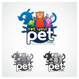 Online-husdjur Stock Illustrationer