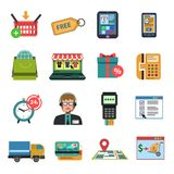 Online Icons Flat Stock Photography