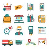 Online Icons Outline Set Royalty Free Stock Images