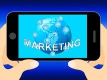 Online-illustration för befordringar 3d för marknadsföringsshowmarknad royaltyfri illustrationer