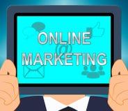 Online-illustration för befordringar 3d för marknadsföringsvisningmarknad royaltyfri illustrationer