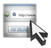 Online ilustracja wynagrodzenie kursor wyszukiwarki i Obrazy Royalty Free