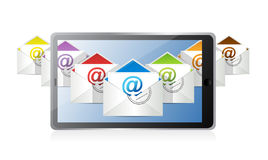 Online inbox emails technology. Royalty Free Stock Image