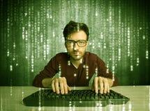 Online incidere concetto in corso Fotografia Stock