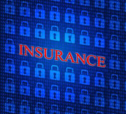 Online Insurance Represents World Wide Web And Indemnity Stock Image