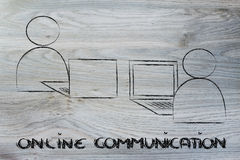 Online internet based communication Royalty Free Stock Photo
