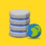 Online internet database storage server flat isometric vector 3d Royalty Free Stock Photo
