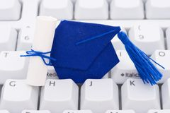 Online or internet education Stock Photos