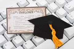 Online or internet education Stock Images