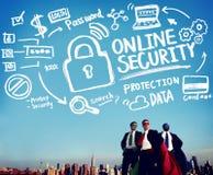 Online-internet för avskildhet för skydd för information om säkerhetslösenord Royaltyfria Bilder