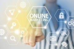 Online Internet-Marketing Stock Afbeeldingen