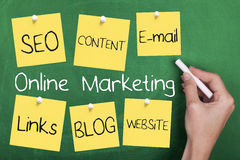Online Internet Marketing royalty free stock images