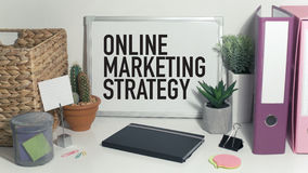 Online internet marketing. Online marketing strategy internet marketing business concept Stock Photo