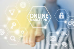 Online internet marketing Stock Images