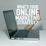 Online internet marketing Stock Photography