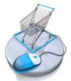 Online internet shopping concept Stock Image
