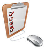 Online internet survey mouse Stock Images
