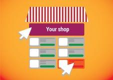 Online internet web shop Royalty Free Stock Images