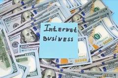 Online of Internet-zaken, Winsten van de verkoop van online Het concept van de succeseconomie stock foto