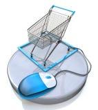 Online interneta zakupy pojęcie ilustracji
