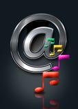 online-internetmusik royaltyfri illustrationer